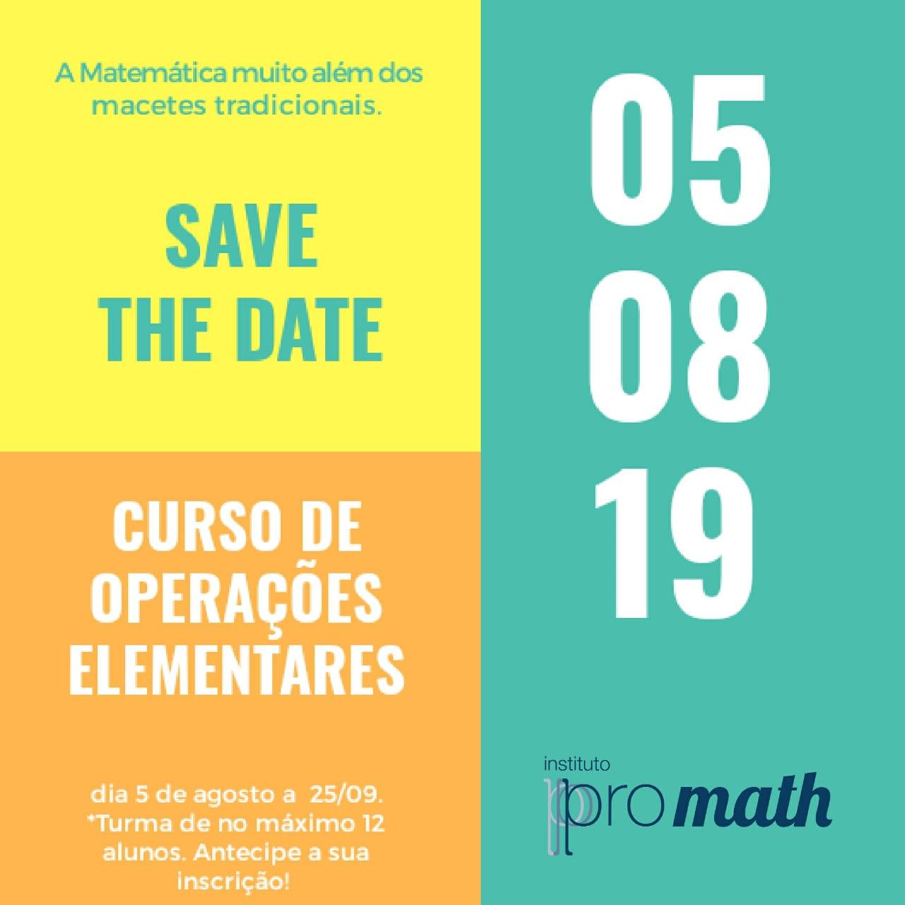 Curso De Operações Elementares Promath: A Matemática Muito Além Dos Macetes Tradicionais!